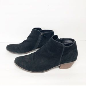 Crown Vintage Black Suede Tabitha Ankle Booties